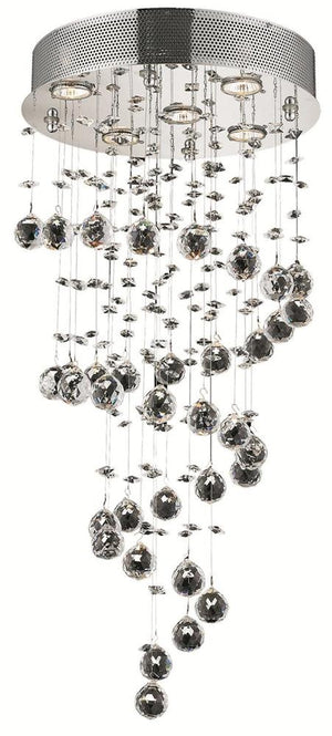 Elegant Lighting - V2024D16C/EC - Five Light Pendant - Galaxy - Chrome