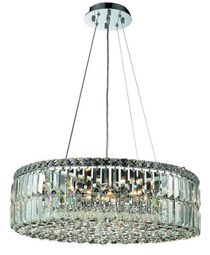 Elegant Lighting - V2030D24C/EC - 12 Light Chandelier - Maxime - Chrome