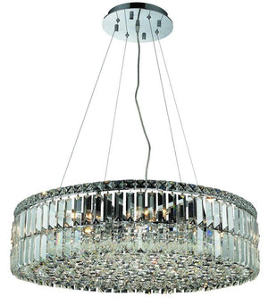 Elegant Lighting - V2030D28C/EC - 12 Light Chandelier - Maxime - Chrome
