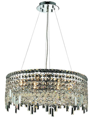 Elegant Lighting - V2031D24C/EC - 12 Light Chandelier - Maxime - Chrome