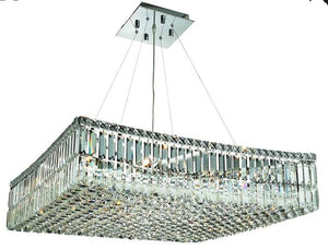 Elegant Lighting - V2032D28C/EC - 12 Light Chandelier - Maxime - Chrome