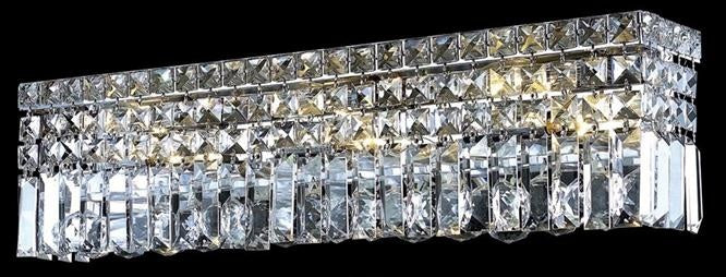 "Elegant Lighting Three Light Wall Sconce 4.50"" Chrome"