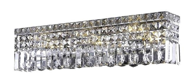 "Elegant Lighting Six Light Wall Sconce 26.00"" Chrome"