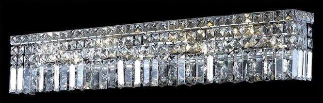 "Elegant Lighting Seven Light Wall Sconce 4.50"" Chrome"