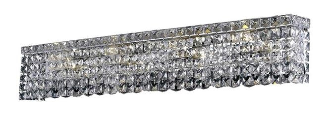 "Elegant Lighting Eight Light Wall Sconce 36.00"" Chrome"
