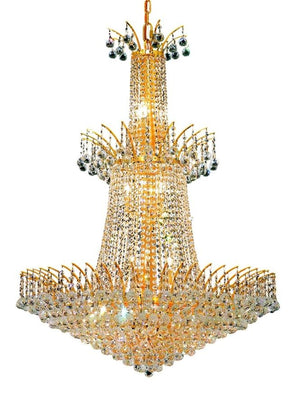 Elegant Lighting - V8031G32G/SS - 18 Light Chandelier - Victoria - Gold
