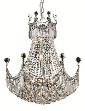 Elegant Lighting - V8949D20C/RC - Nine Light Chandelier - Corona - Chrome