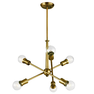 Kichler - 43095NBR - Six Light Chandelier - Armstrong - Natural Brass