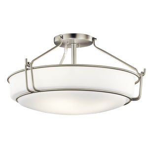 Kichler - 44086NI - Four Light Semi Flush Mount - Alkire - Brushed Nickel