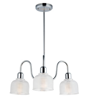 Maxim - 11326CLPC - Three Light Chandelier - Hollow - Polished Chrome