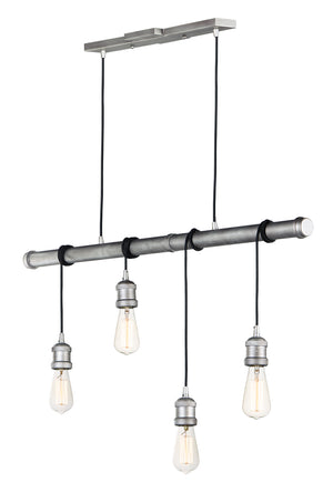 Maxim - 12135WZ - Four Light Pendant - Early Electric - Weathered Zinc
