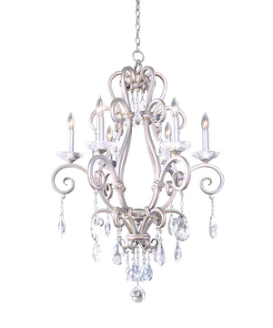 Kalco - 506771PS - Six Light Chandelier - Palladium - Pearl Silver