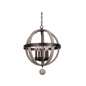 Kalco - 506850FG - Five Light Pendant - Harper - Florence Gold
