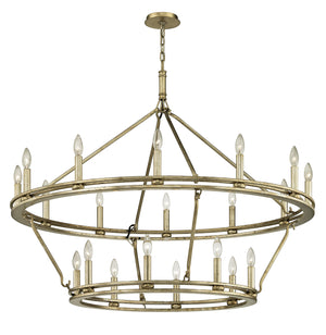 Troy Lighting - F6249 - 20 Light Chandelier - Sutton - Champagne Silver Leaf
