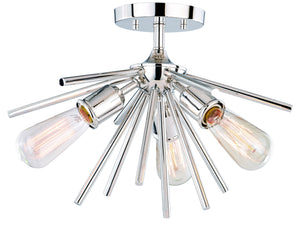Vaxcel - C0163 - Three Light Semi-Flush Mount - Estelle - Polished Nickel