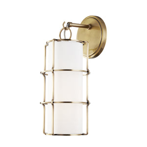 Hudson Valley - 1500-AGB - One Light Wall Sconce - Sovereign - Aged Brass