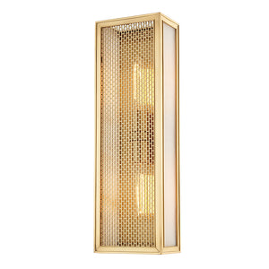 Hudson Valley - 6018-AGB - Two Light Wall Sconce - Ashford - Aged Brass