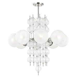 Hudson Valley - 6433-PN - Eight Light Chandelier - Calypso - Polished Nickel