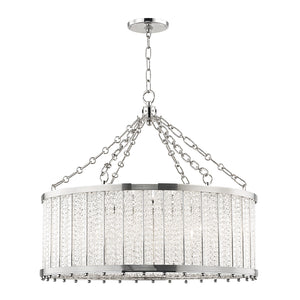 Hudson Valley - 8125-PN - Eight Light Pendant - Shelby - Polished Nickel