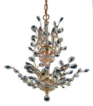 Elegant Lighting - V2011D21G/SA - Eight Light Chandelier - Orchid - Gold