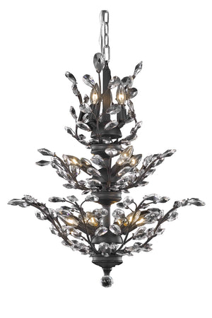Elegant Lighting - V2011D27DB/SS - 13 Light Chandelier - Orchid - Dark Bronze