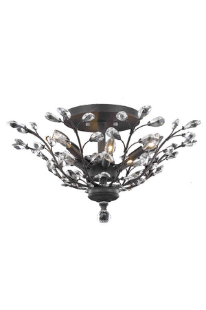 Elegant Lighting - V2011F27DB/SS - Six Light Flush Mount - Orchid - Dark Bronze