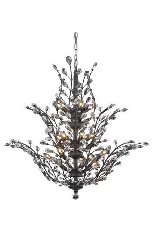 Elegant Lighting - V2011G41DB/EC - 18 Light Chandelier - Orchid - Dark Bronze