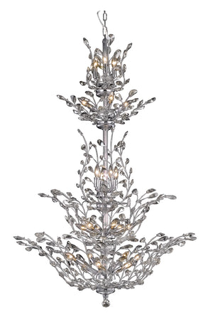 Elegant Lighting - V2011G54C/SS - 25 Light Chandelier - Orchid - Chrome