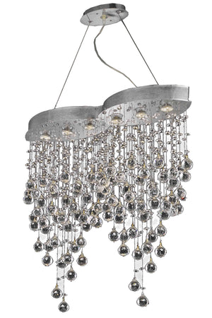 Elegant Lighting - V2025D33C/EC - Six Light Chandelier - Galaxy - Chrome