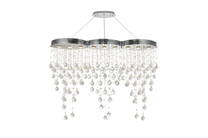 Elegant Lighting - V2025D48C/EC - Nine Light Chandelier - Galaxy - Chrome