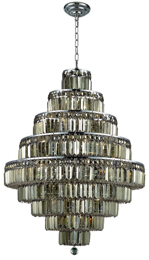 Elegant Lighting - V2038D30C-GT/SS - 20 Light Chandelier - Maxime - Chrome