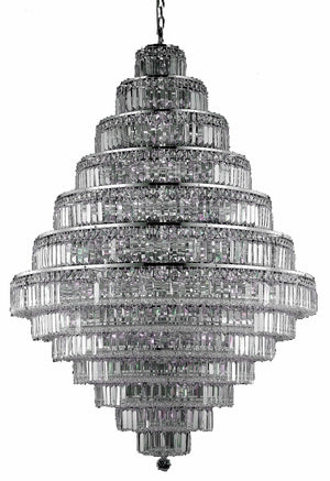 Elegant Lighting - V2038G42C/SS - 38 Light Chandelier - Maxime - Chrome
