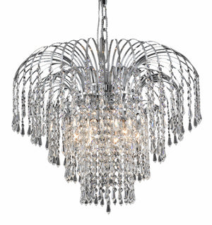 Elegant Lighting - V6801D21C/RC - Six Light Chandelier - Falls - Chrome