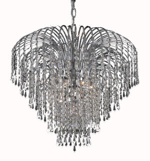 Elegant Lighting - V6801D25C/EC - Six Light Chandelier - Falls - Chrome