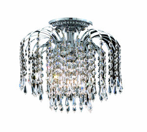 Elegant Lighting - V6801F16C/EC - Four Light Flush Mount - Falls - Chrome