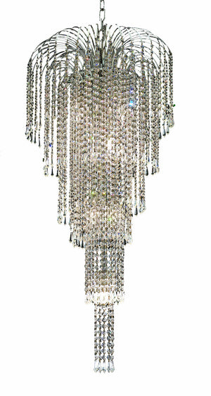 Elegant Lighting - V6801G19C/SS - Nine Light Chandelier - Falls - Chrome