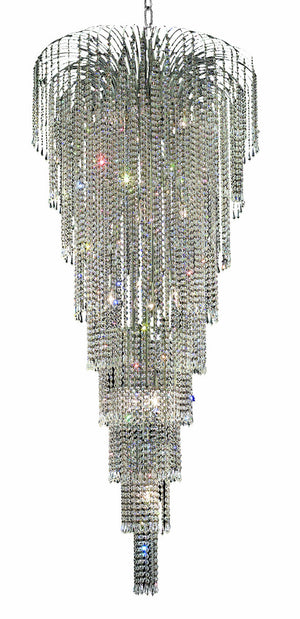 Elegant Lighting - V6801G30C/SA - 15 Light Chandelier - Falls - Chrome