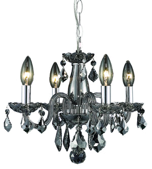 Elegant Lighting - V7804D15SS-SS/RC - Four Light Pendant - Rococo - Silver Shade