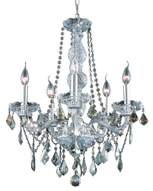 Elegant Lighting - V7855D21C-GT/SS - Five Light Chandelier - Verona - Chrome