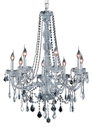 Elegant Lighting - V7858D28C/RC - Eight Light Chandelier - Verona - Chrome