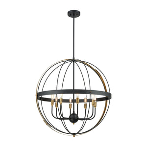 Elk Lighting - 15287/8 - Eight Light Pendant - Caldwell - Matte Black, Satin Brass