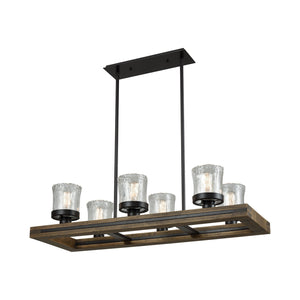 Elk Lighting - 33072/6 - Six Light Island Pendant - Timberwood - Oil Rubbed Bronze