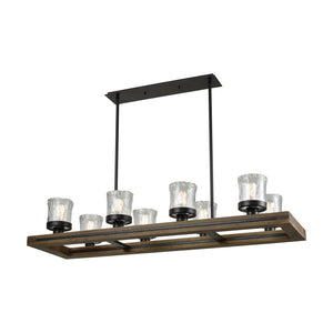 Elk Lighting - 33073/8 - Eight Light Island Pendant - Timberwood - Oil Rubbed Bronze