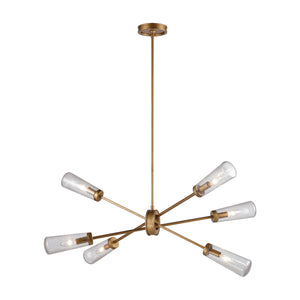 Elk Lighting - 66981/6 - Six Light Island Pendant - Xenia - Matte Gold