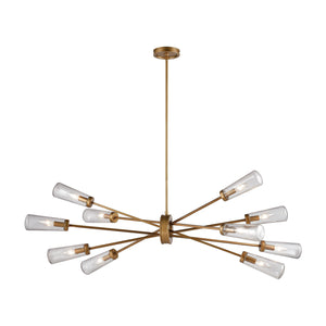 Elk Lighting - 66982/10 - Ten Light Island Pendant - Xenia - Matte Gold