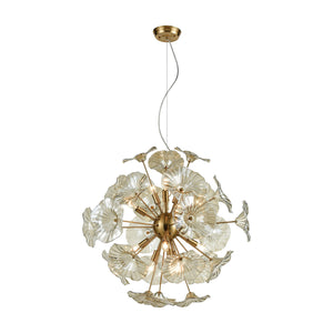 Elk Lighting - 68146/12 - 12 Light Pendant - Vershire - Satin Brass