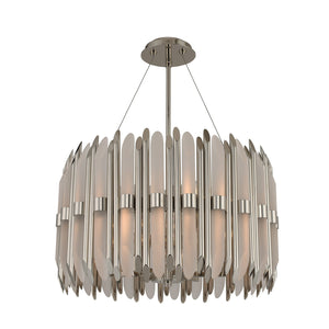 Kalco - 312952PN - Six Light Pendant - Massina - Polished Nickel