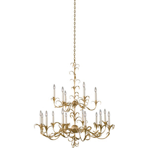 Kalco - 505472OL - 18 Light Chandelier - Ainsley - Oxidized Gold Leaf