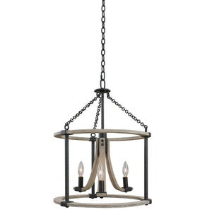 Kalco - 506651NI - Three Light Pendant - Middleton - Natural Iron
