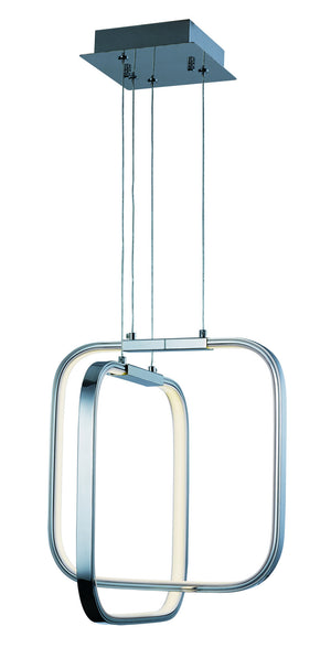 ET2 - E24552-PC - LED Pendant - Squared LED - Polished Chrome